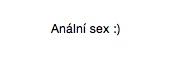 anální sex