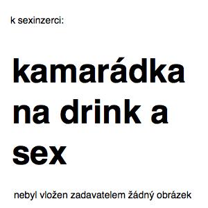 kamarádka na drink a sex